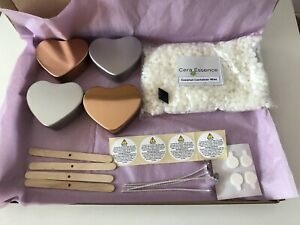 ECO Candle Making Kit - 4 heart tin candles