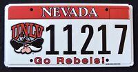 "NEVADA "" UNLV GO REBELS COWBOY FOOTBALL "" NV University Specialty License Plate"
