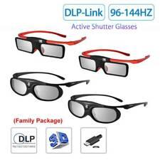 4x BOBLOV Active Shutter 3D Brille 96-144Hz Familienpaket für BenQ Dell Sharp