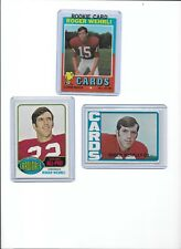 Roger Wehrli Cardinals Lot of (3) Different w/ 1971 Topps Rookie #188 HOF BV$18