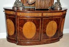 Hepplewhite Mahogany Inlaid Bow Front Inlaid Server Sideboard Buffet NEW Custom