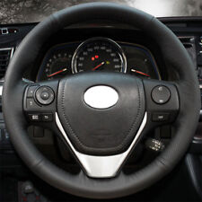 DIY Real Leather Sew Steering Wheel Cover for Toyota RAV4 2014-2018 Corolla 2013