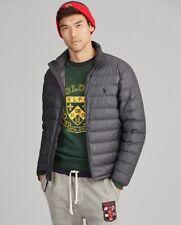 Polo Ralph Lauren Men's Packable Puffer Down Coat Jacket Grey Hthr Large BNWT