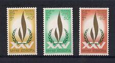 ETHIOPIA: 1973:  25th Anniv. of Univ. Dec of Human Rights. Scott 664 - 668, MNH