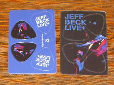 Set of 4 Jeff Beck Guitar Picks - Promo item for Live + Cd promotional only New