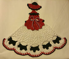 Crochet Crinoline Lady Doily - Scottie Dog