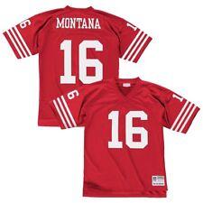 Joe Montana 1990 San Francisco 49ers Mitchell & Ness Hombres Jersey Hogar Rojo Legacy