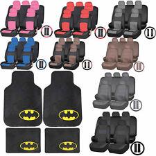 Synthetic Leather Seat Covers Set DC Comic Batman Rubber Floor Mats Universal