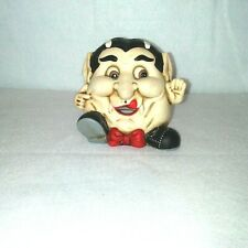 Halloween Vampire Votive Candle Holder Fat Face with Bow Tie Novelty