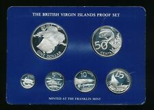 1985 British Virgin Islands Proof Sterling Silver Set, 6 Silver Coins          m