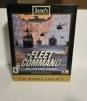 "Vintage PC, CD-ROM Game ""JANE'S FLEET COMMAND"" - Real Time Naval Strategy, Rare"