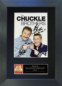 CHUCKLE BROTHERS No2 Signed Mounted Autograph Photo Reproduction Prints A4 616