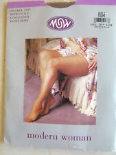 Modern Woman MW Control Top Pantyhose Taupe Plus Size C Sandalfoot Hosiery Queen