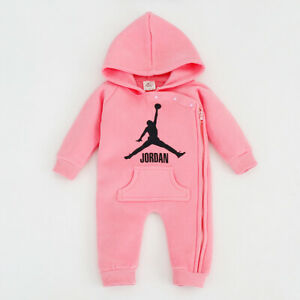 Hot Newborn Baby Girl Winter Wool Thicken Warm Romper Hooded Clothes Outfit 0-3M