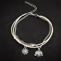 Women Ankle Bracelet 925 Plated Silver Anklet Foot Chain Boho Beach Fashion