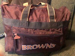 Vintage Cleveland Browns Team NFL  Gym Duffle Carry On Bag