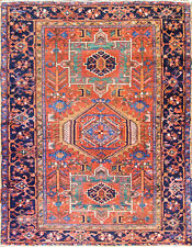 "4'8"" x 6'1"" Magnificent Antique Karaja Heriz Rug, Tribal,#17036"