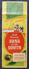 WALT DISNEY SONG OF THE SOUTH 1946 ORIGINAL INSERT MOVIE VERY RARE