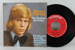 """7"""" Single - JÜRGEN MARCUS - Ein Festival der Liebe - Telefunken 1973"""
