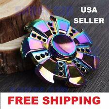 Beautiful Rare Gear / UFO Rainbow Fidget EDC Hand Spinner Torqbar ADHD Autism