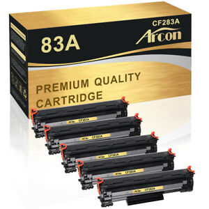 5PK Toner Compatible for HP 83A CF283A LaserJet Pro M125nw M127fn M127fw M225DN