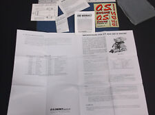 VINTAGE O.S. MAX 28F-H R/C HELICOPTER ENGINE INSTRUCTION SHEET W/EXTRS *VG-COND