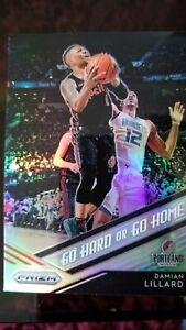 Damian Lillard Carta Portland Trail Blazers NBA Card prizm 2018/19 Go hard ir go