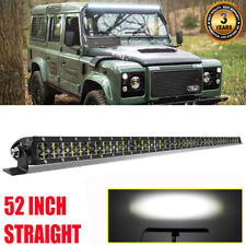 "6D 52"" 1500W LED Light Bar High Output Flood Spot LAND ROVER DEFENDER 90 110 130"