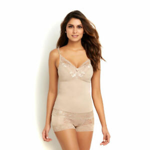 RHONDA SHEAR Pin-Up Lace CAMISOLE Removable Molded Padded Cup Medium Support