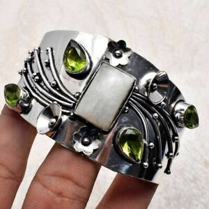 Peridot Ethnic Handmade Adjustable Bangle Jewelry 34 Gms AB 30699