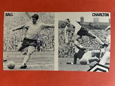 Alan Ball And Bobby Charlton - England Footballers Signed Picture