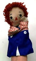 Vintage 1970s Raggedy Andy Hand Puppet Knickerbocker Original 3D Eyes