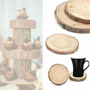 Natural Round Wooden Slice Cup Mat Tableware Home Decoration Durable Coaster New