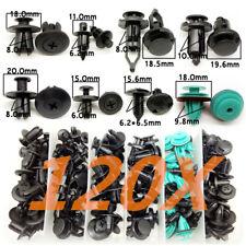 120x Mixed Auto Car Fastener Clip Plastic Push Rivet Pin 6-10mm Hole Universal