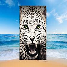 Gift Cool Leopard Wolf Tiger Rhino Elk Dinosaur Swim Bath Beach Towel Blanket