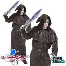 BROWN HOODED DARK VENGEANCE HALLOWEEN ROBE Adult Scary Reaper Costume 16700