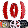 4Pcs 3D Red Style Auto Car Disc Brake Caliper Covers Front & Rear Universal