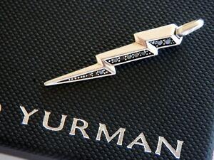 David Yurman 'Very Rare' Sterling Silver Black Diamond Lightning Bolt Amulet