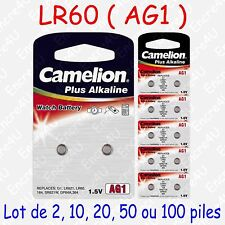 Camelion AG1-BP10 1,5V Pile Bouton Alkaline (Pack de 10)
