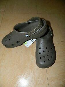 Crocs Beach Chocolate Men's Ladies Clogs Shoes Sizes UK 7-8 EU 41-42