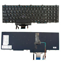 New Backlit Keyboard no Frame For Dell Precision 3510 M3510 7510 M7510 Black