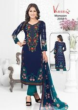 Unstitched Printed Shalwar Kameez Indian Ladies suit Bollywood Ethnic Synthetic