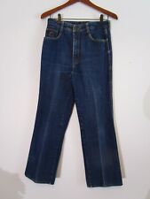 "Vintage 1970's Jordache Jeans Size 32 High Waist Straight Leg 27"" Inseam Mom"