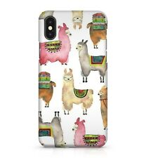 Cuddly Allpaca Llama Animal Family Pattern Water Colour Effect Phone Case Cover