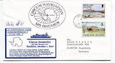 Circumnavigation MS Bremen Christine Reinke Kunze Shackleton Polar Cover SIGNED