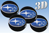 Wheel stickers Subaru all size Centre Cap Logo Badge Wheel Trims 3d 60mm