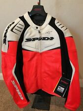 Spidi R/T Mens Leather Jacket Black/Red - Size 44 US/54 Euro *NEW WITH TAGS
