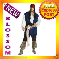 C237 Pirates Captain Jack Sparrow Adult Plus Costume