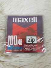 Maxell Zip Disk for 100 MB DOS Formatted New Factory Sealed #58005