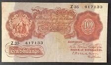 Bank of England. Ten Shillings. B210. C.P. Mahon. 1928. Z35 417133. (BN19)